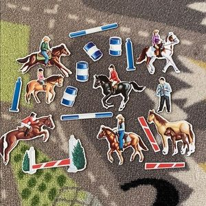 Other - 18pc Magnet Set - Horse Back Riding